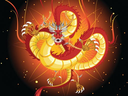 Chinese Dragons Coloring